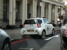 Westminster CCTV camera car parked on double red lines