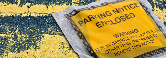 Parking tickets, yellow lines, signs