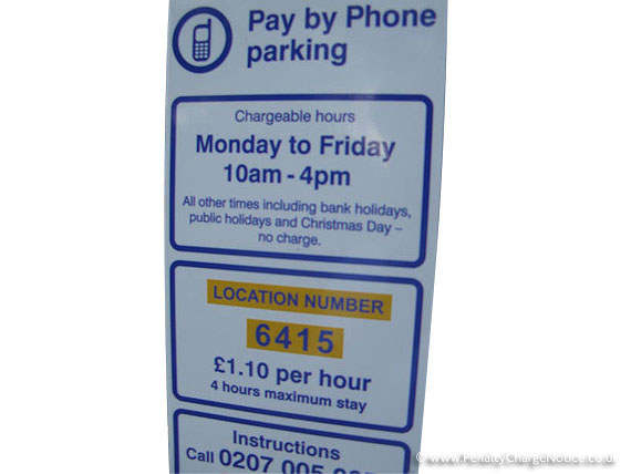 Pay by phone parking Westminster