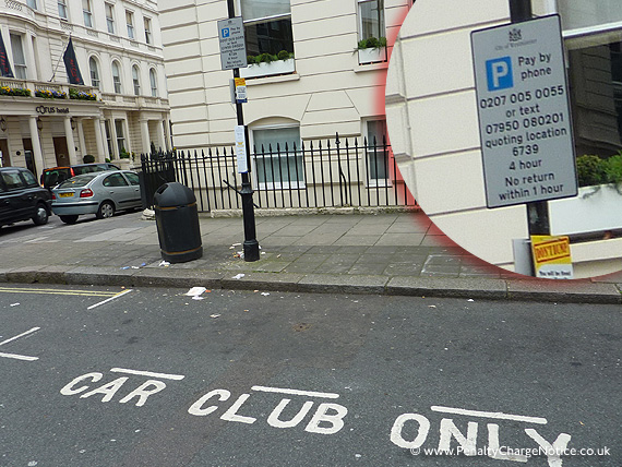 Westminster Car Club Parking Bay Signage